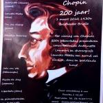Aankondiging concert Brielle, 200 jaar Chopin