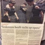 Artikel NRC. Foto van Traviata Reisopera.