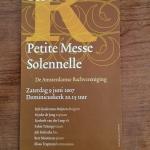 Met Amsterdams Bachkoor: Petite Messe Solenelle = Rossini